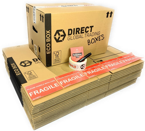 Pack of 15 Eco Friendly  Cardboard Moving House Boxes