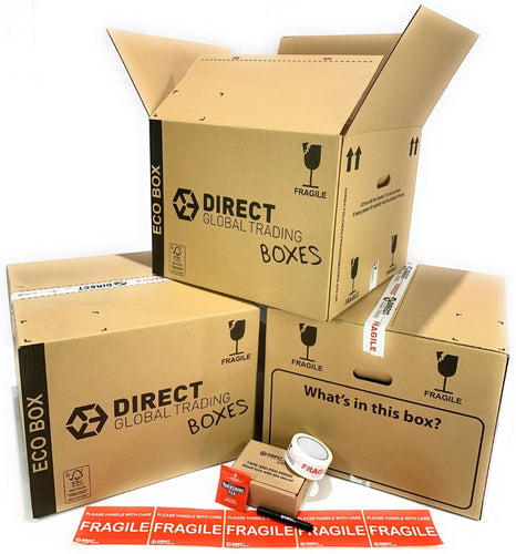 Pack of 10 Extra Large Eco Friendly Cardboard Moving House Boxes