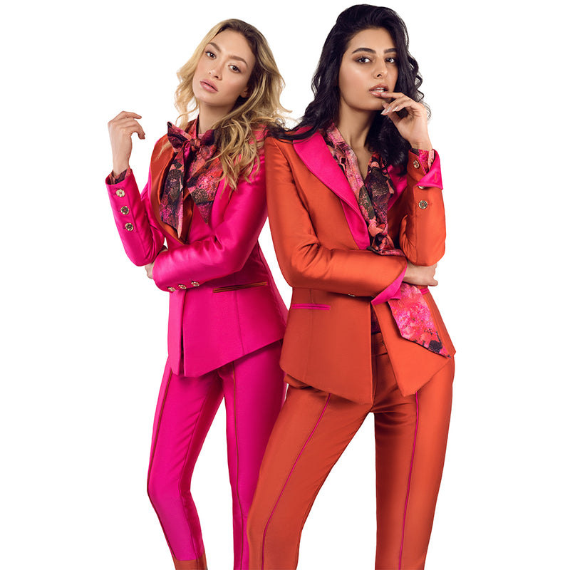 Boogie Nights Tuxedo Blazer ROSA SHOCKING