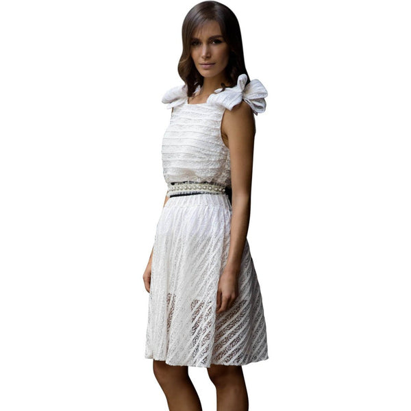 Tough Love Dress -White
