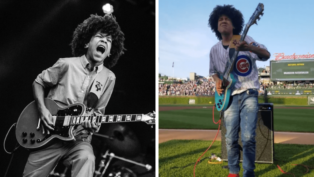 Spectacular: 15 Year Old Played The National Anthem On His Electric Guitar