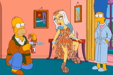 9 Totally Accurate Simpsonized Celebrities Lady Gaga