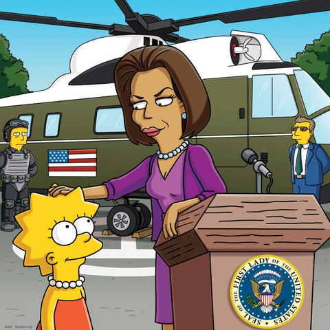 9 Totally Accurate Simpsonized Celebrities Michelle Obama