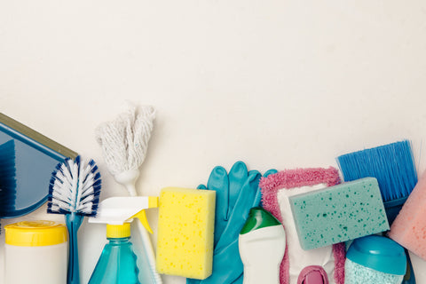How Cleaning Helps With Anxiety cleaning supplies