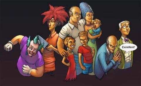 Creative Simpsons Fan Art Where The Characters Look Nothing Like Themselves