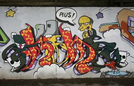 Simpsons Street Art