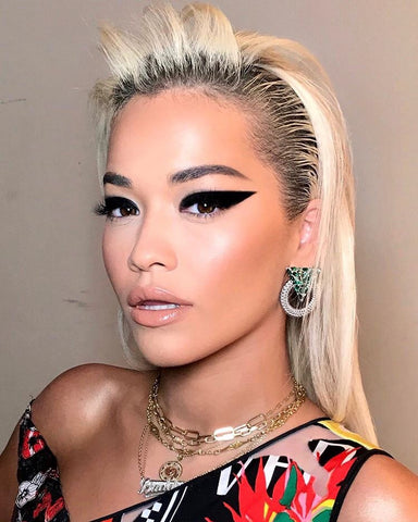 The Makeup Looks You Will See Everywhere in 2019 Rita Ora wearing thick Cat eyeliner