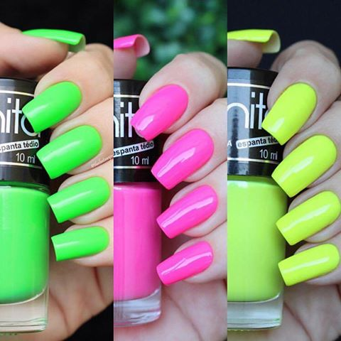 The Most Effortless Beauty Trends to Try in 2019 neon nails
