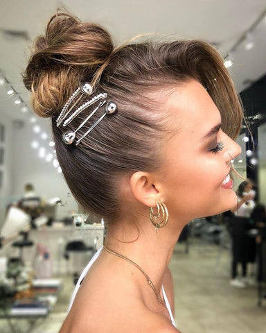 The Most Effortless Beauty Trends to Try in 2019 updo with hair accessories