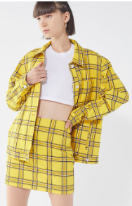 yellow plaid set