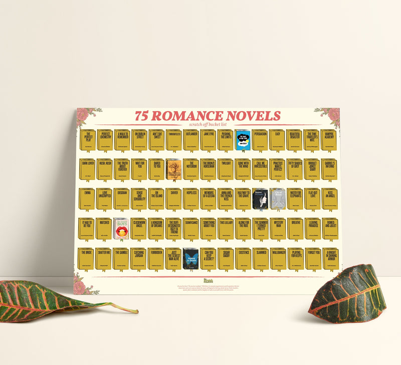 Bo 75 Romance Novels Scratch-Off Poster