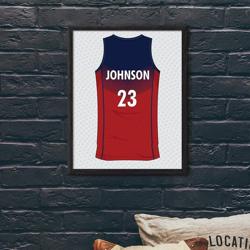 TRENDINESS S / Unframed Personalized Basketball Shirt Print
