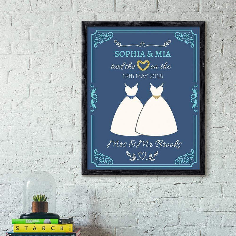TRENDINESS S / East Bay / Unframed Personalized Classic Wedding Print