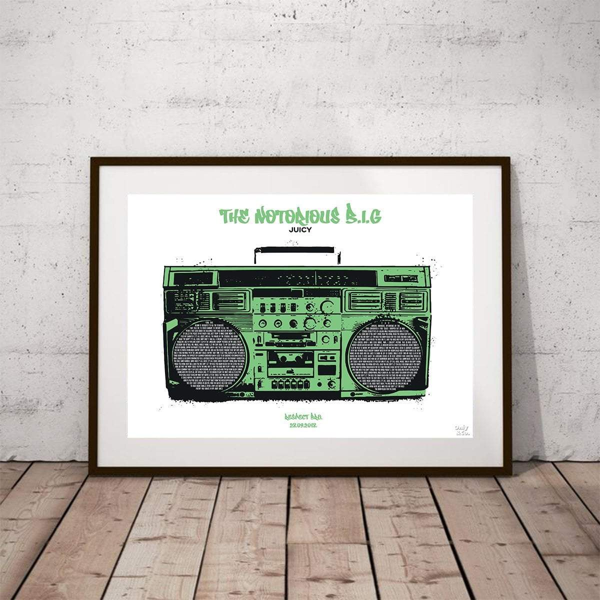 Personalized Hip Hop Lyrics Poster