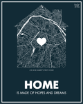 TRENDINESS Personalized Home Map Poster