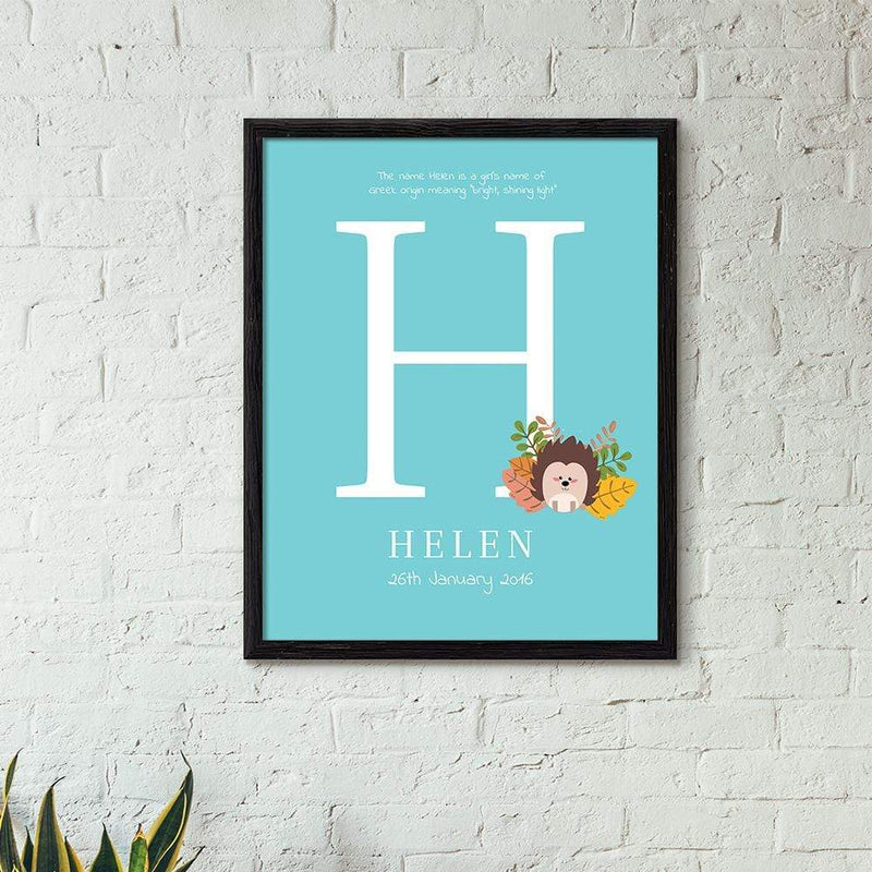 TRENDINESS S / Aqua / Unframed Personalized Name Print