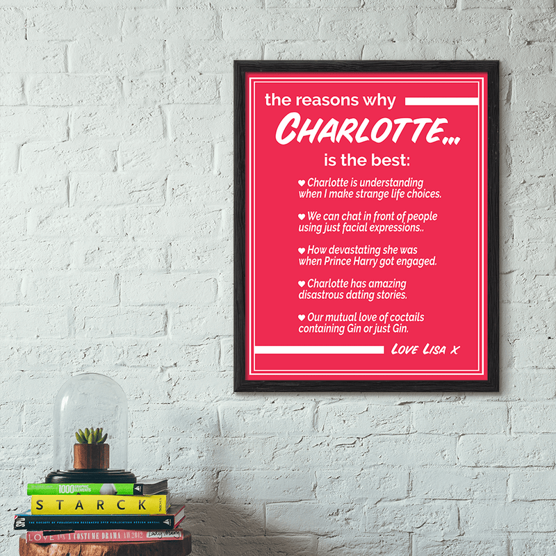 TRENDINESS Personalized 'Things We Love About' Our Friend Print