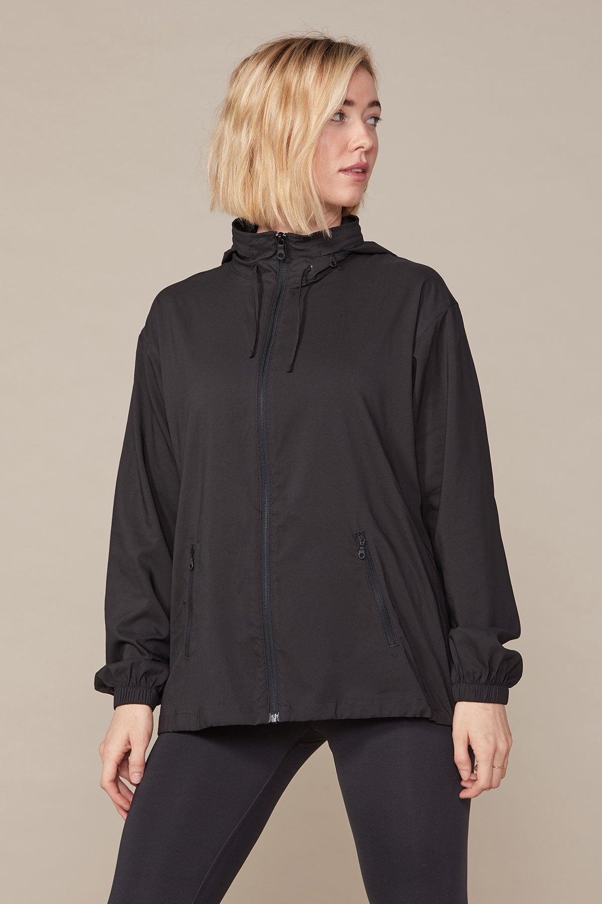 Black Peregrine Windbreaker