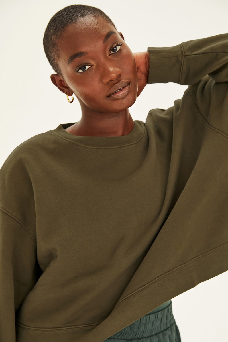 Forest Cropped Sweatshirt