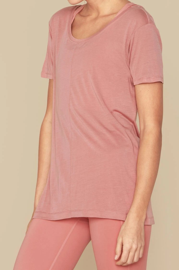Dusty Rose Frances Tee