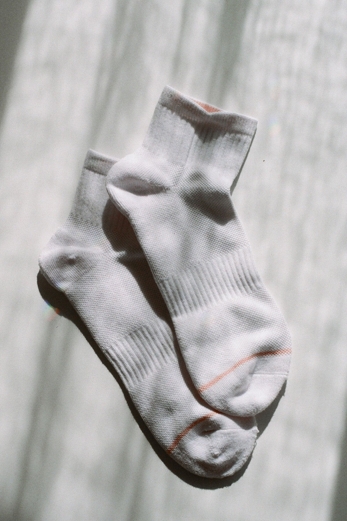 White Quarter Crew Sock