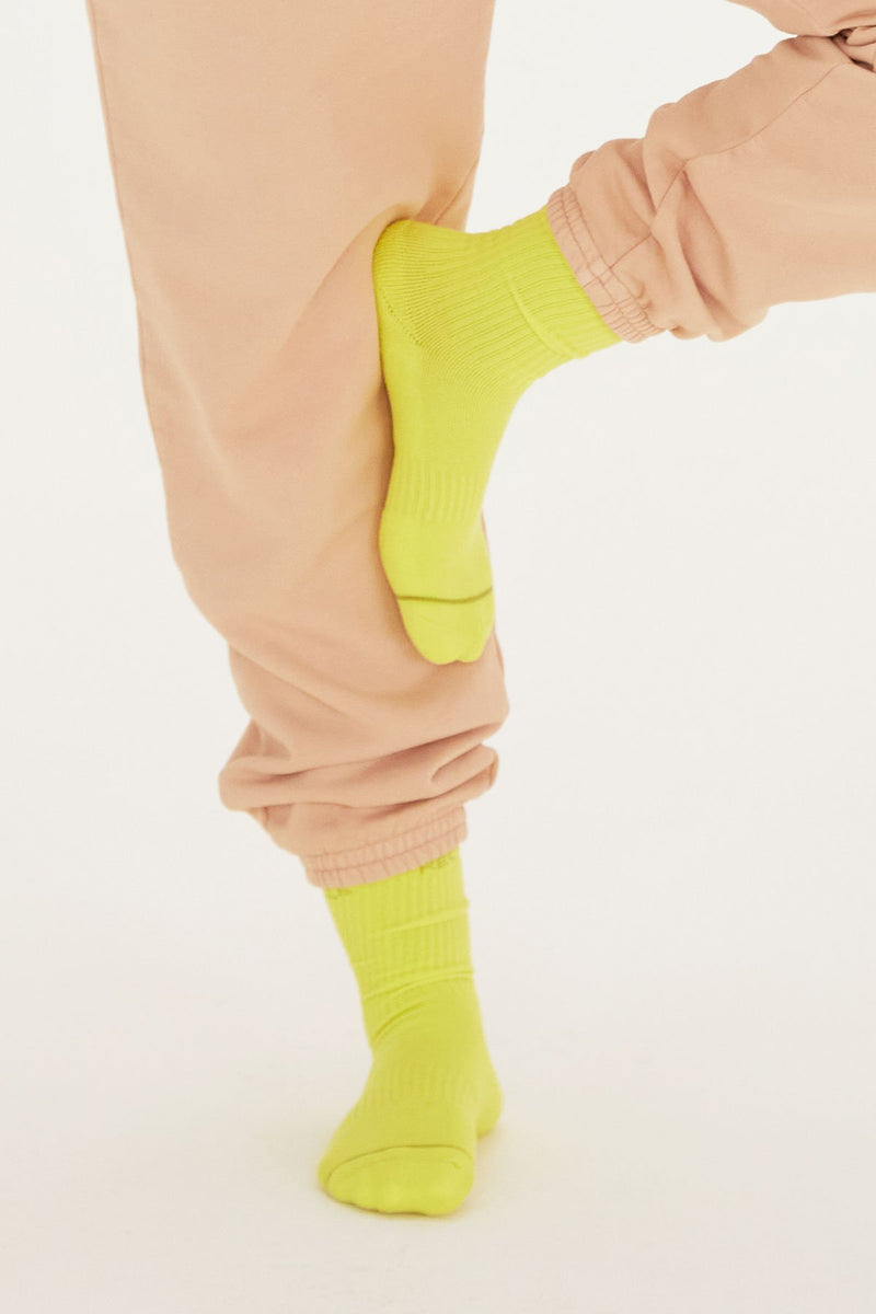 Neon Please Recycle Crew Sock