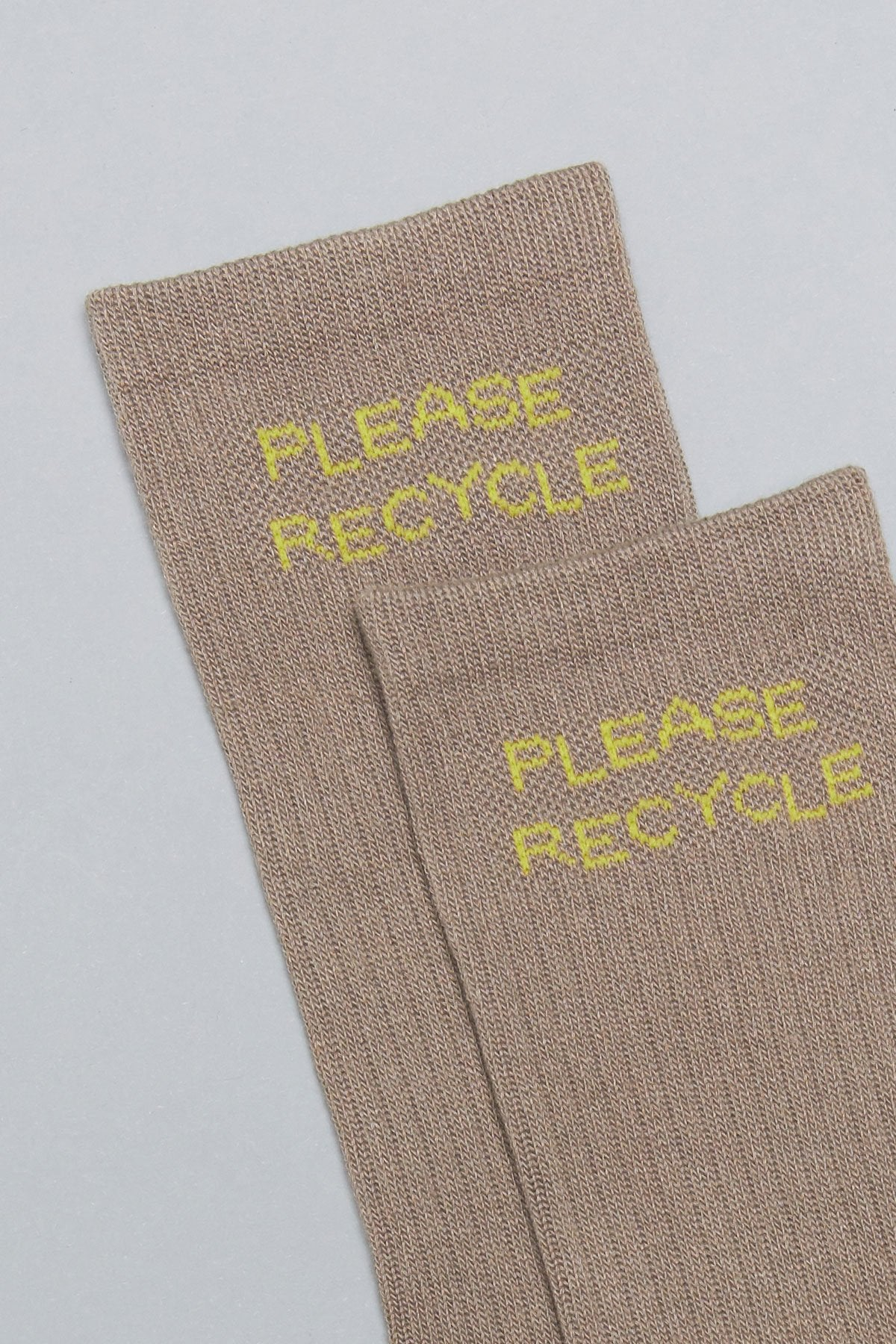 Limestone Please Recycle Crew Sock