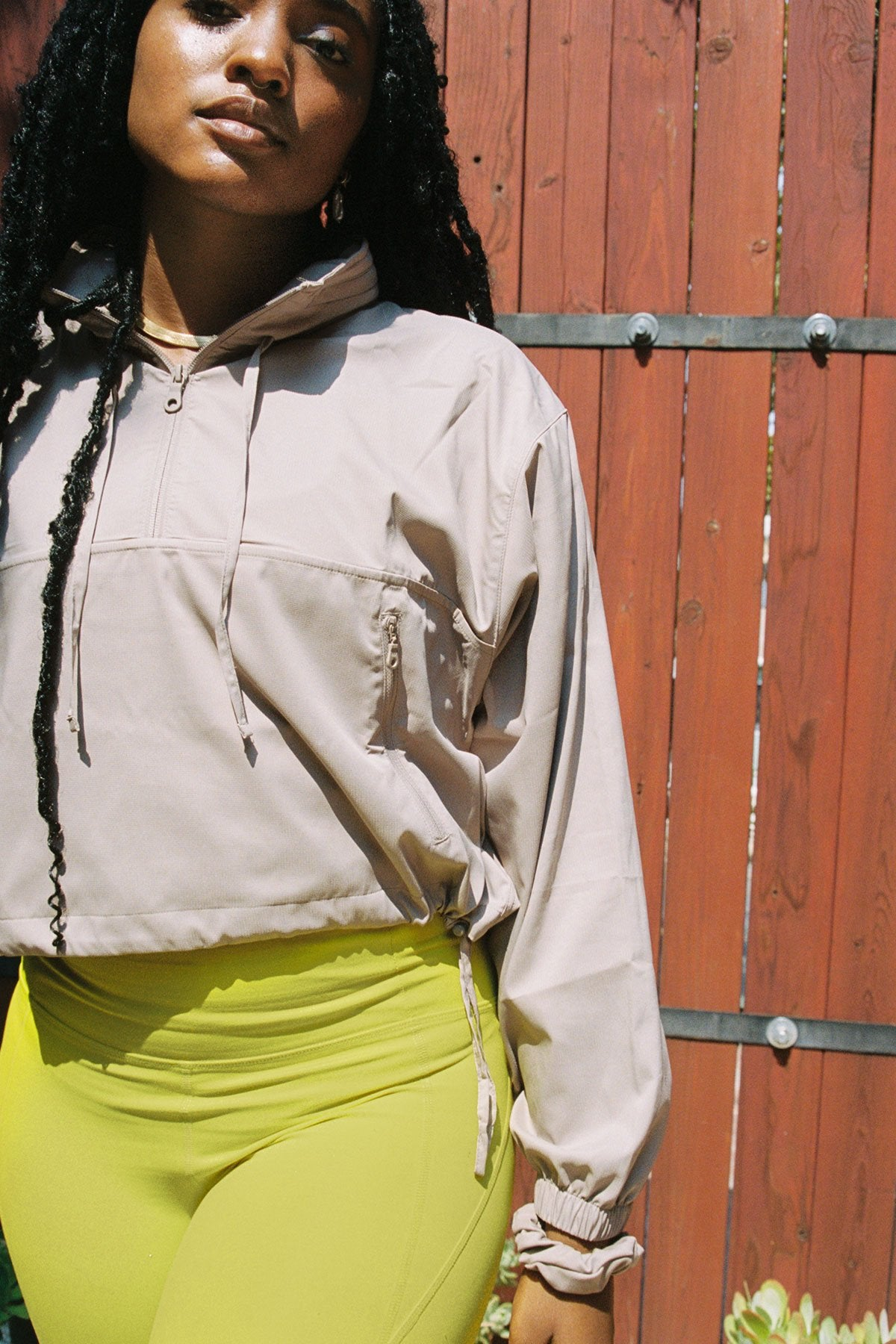 Limestone Hummingbird Half Zip Windbreaker