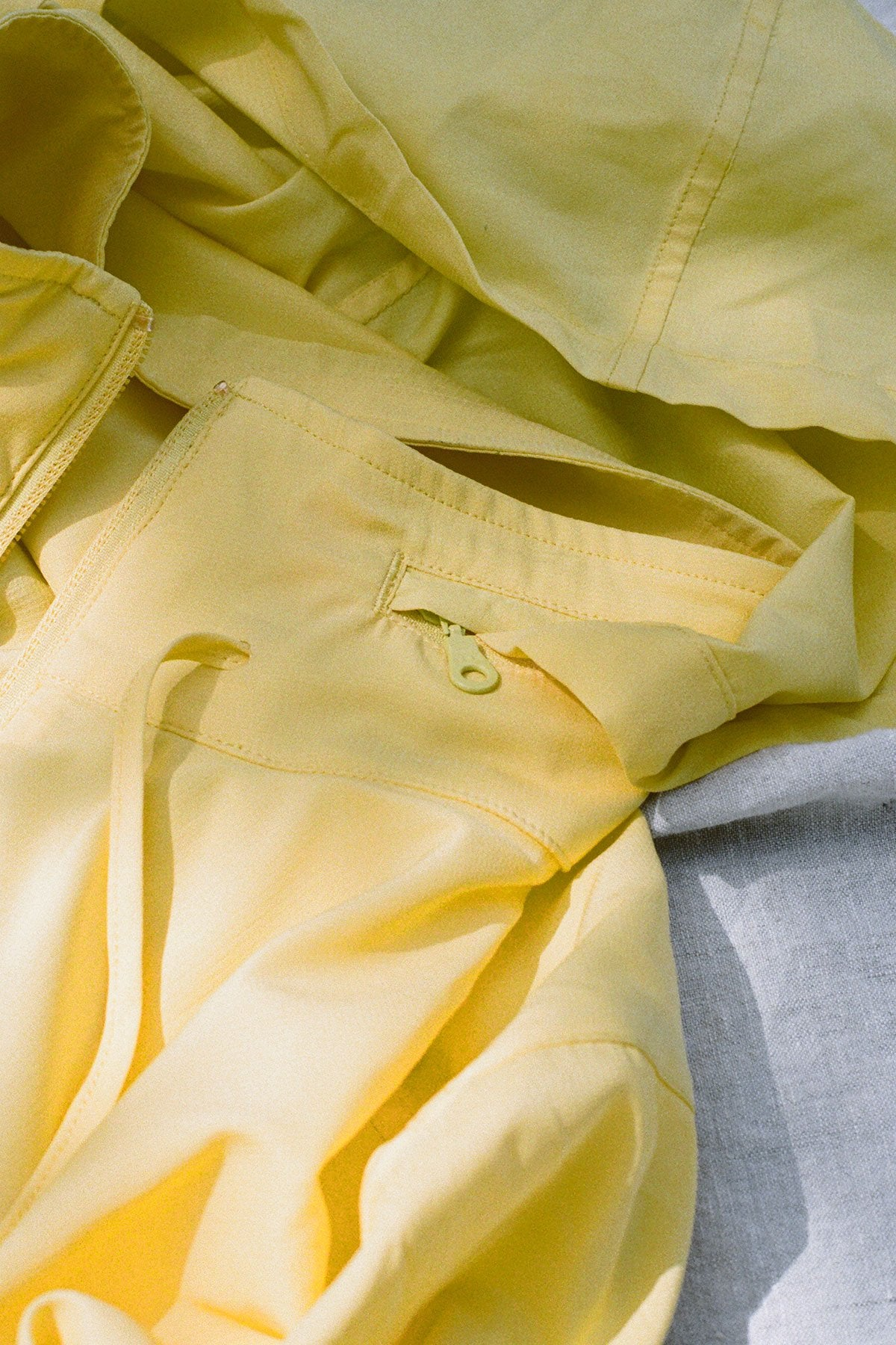 Lemon Hummingbird Half Zip Windbreaker
