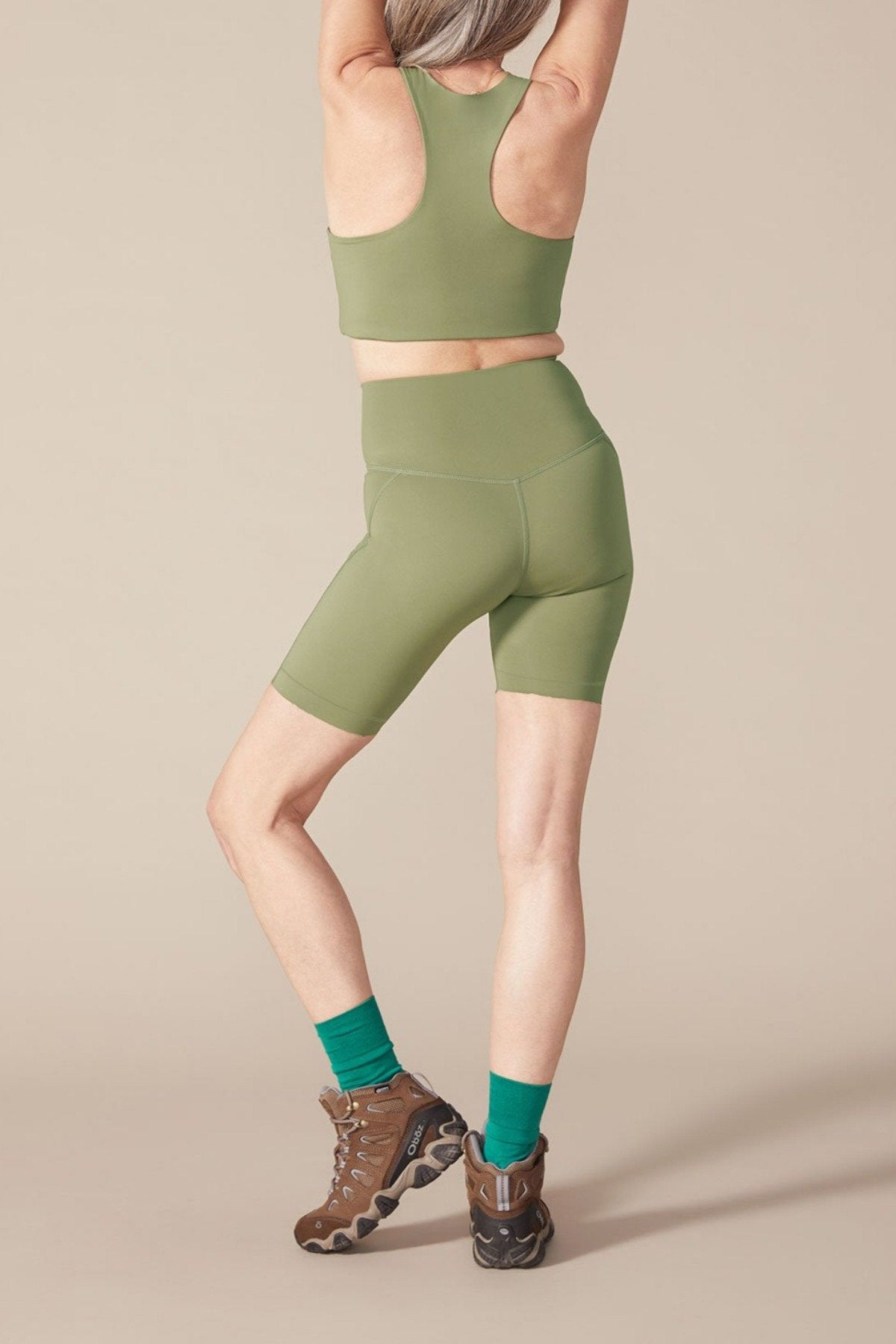 Olive High-Rise Bike Short