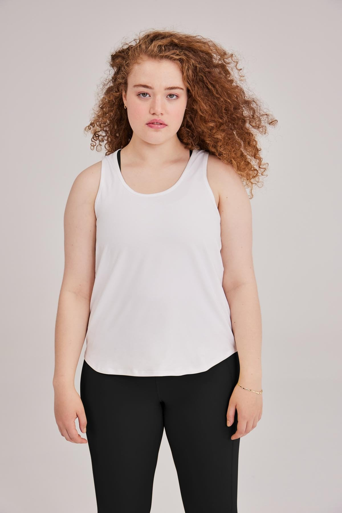 White Train Relaxed Tank