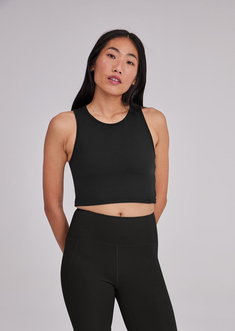 Black Stretch Super Crop