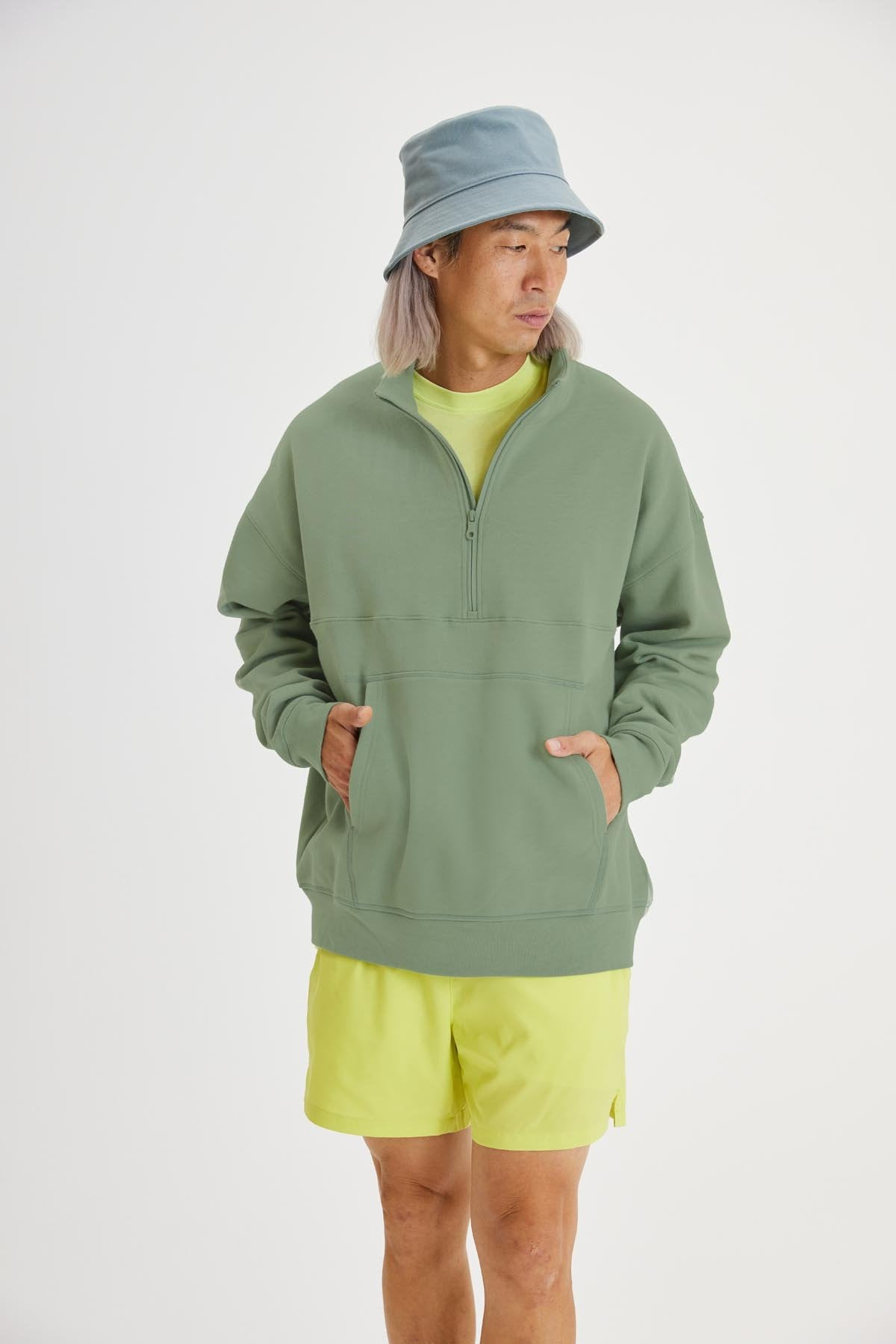 Agave 50/50 Relaxed Fit Half-Zip Sweatshirt