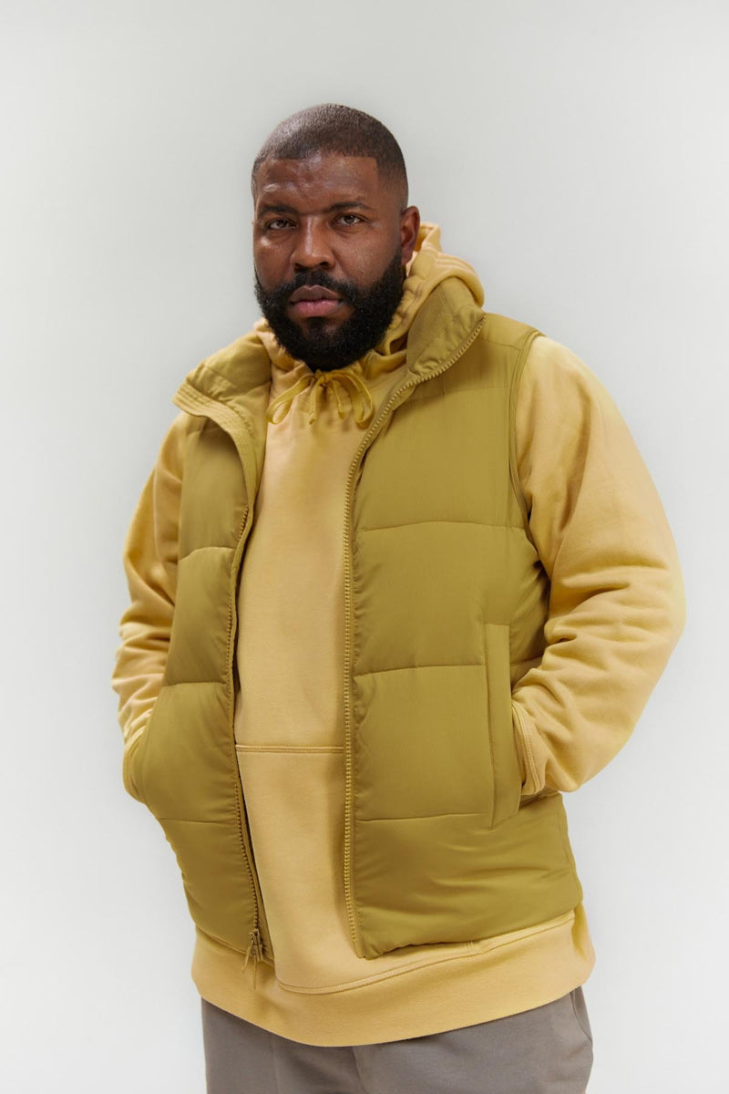 Gold Everyone Puffer Vest