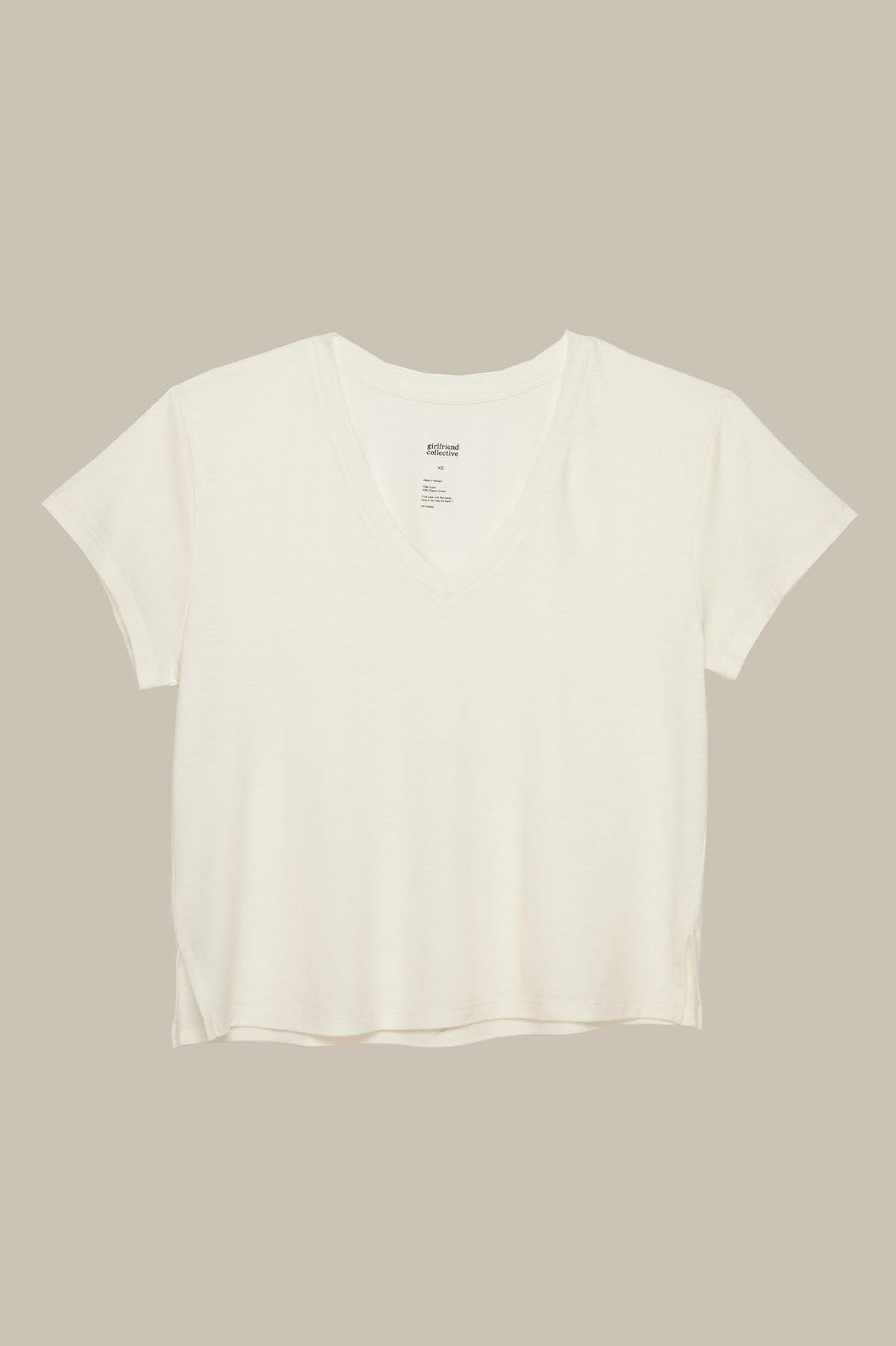 White Eva V-Neck Tee
