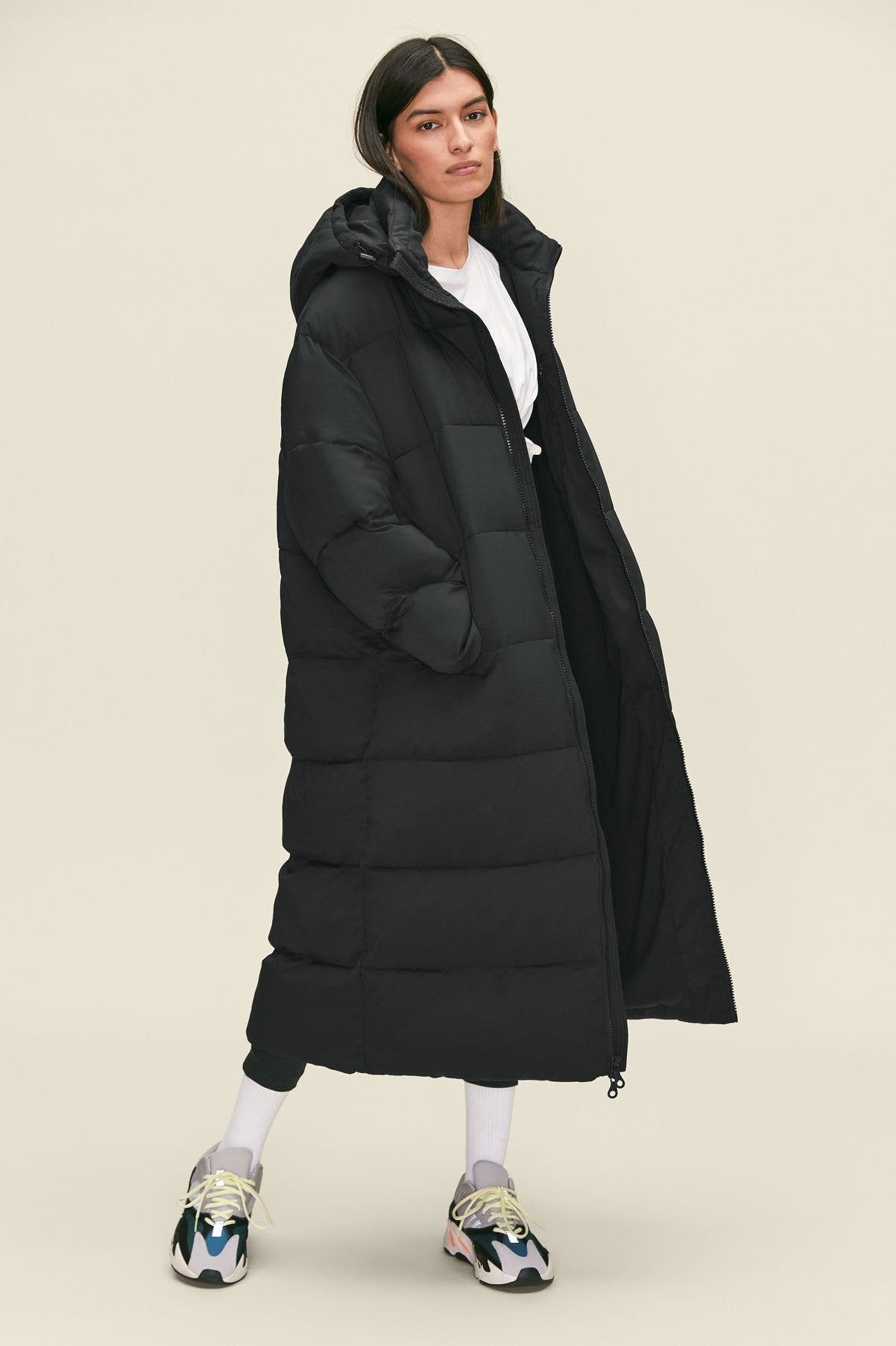 Black Long Recycled Puffer