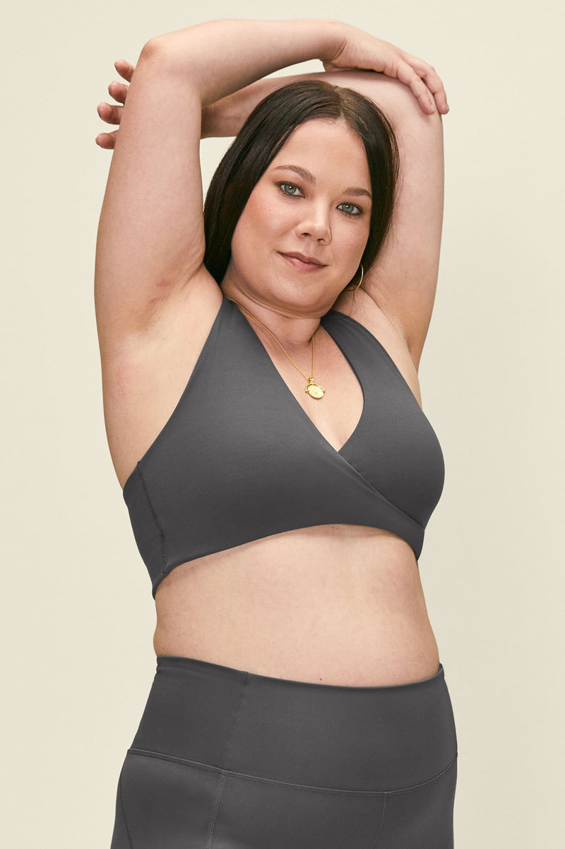 Smoke May Crossover Nursing Bra