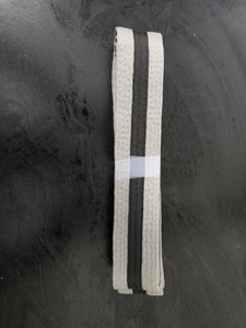 Gray-Black belt with black stripe