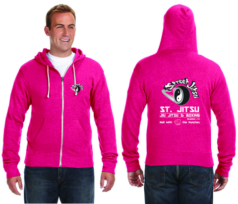 Pink- Zip Up Hoodie, Roll with the punches