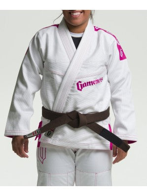 White/pink Female Pearl Gi