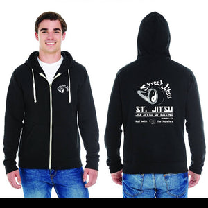 Black- Zip Up Hoodie, Roll with the punches