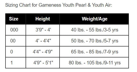 Youth Air Gi- Gameness official brand