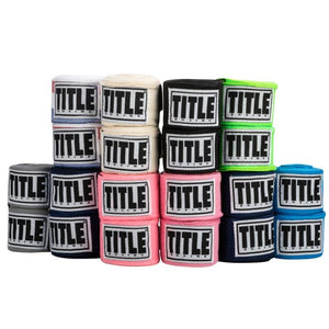 "TITLE 120"" SEMI-ELASTIC HAND WRAPS- Assorted Colors"