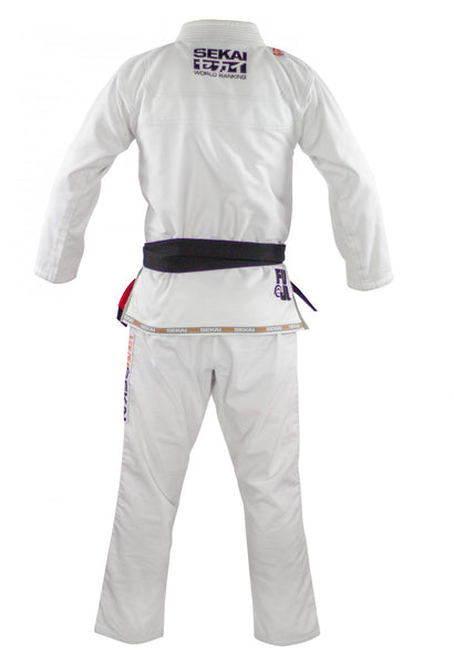 Sekai 2.0 BJJ Gi White Men's and Women's