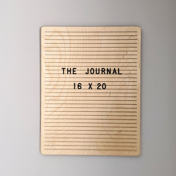 "*NEW* The Journal Birch - 16"" x 20"""