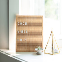 Load image into Gallery viewer, walnut oak wood letter board home decor