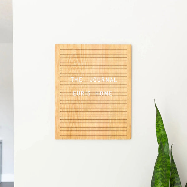 oak wooden letter board
