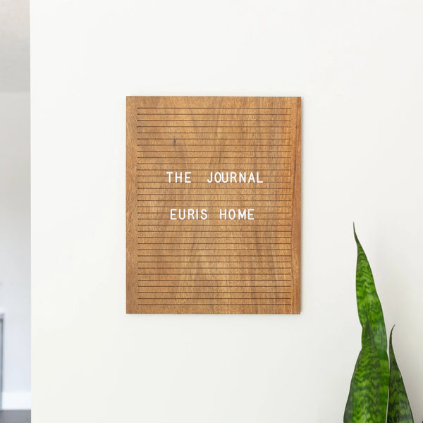 walnut wood letter board home decor