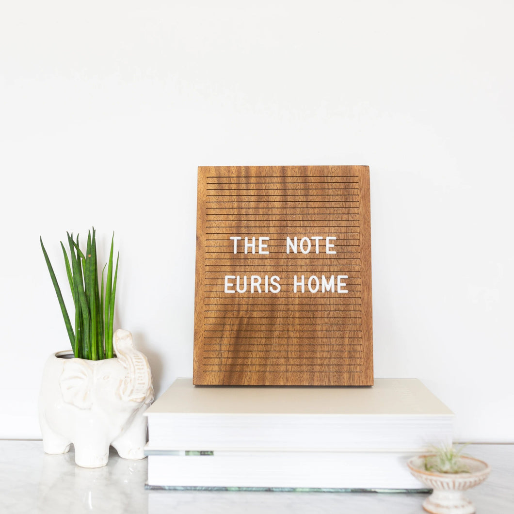 walnut oak wood letter board home decor