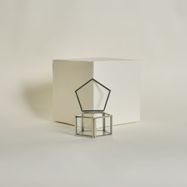 Silver Pentagon Ring Box